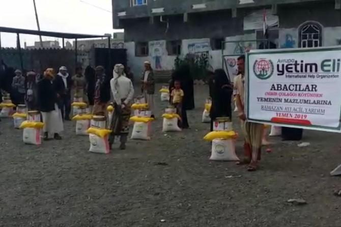 Hani Abacılar köyü sakinlerinden Yemen'e yardım