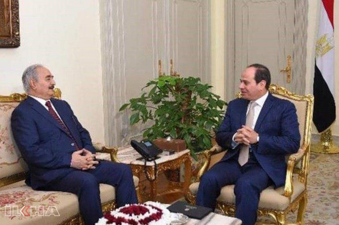 Gen Haftar visits Sisi for the second time in a month