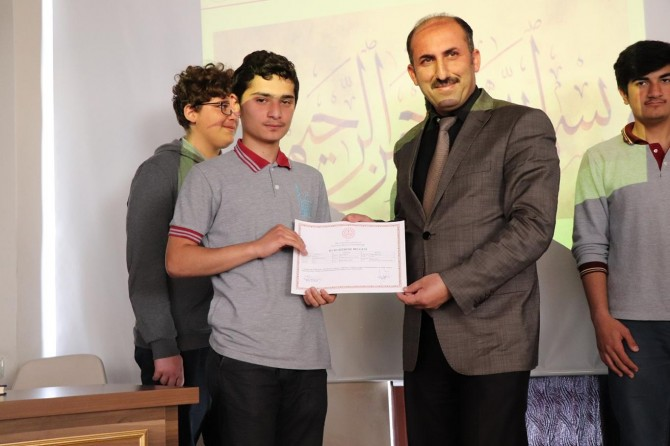 Mardin'de Osmanlıca kursu sertifika töreni