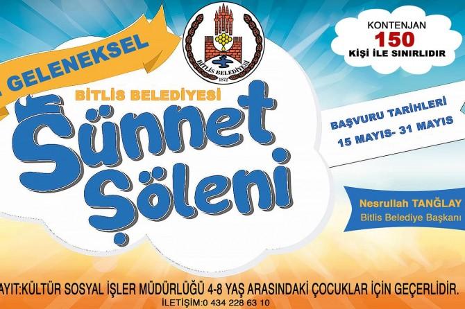 Bitlis'te toplu sünnet için kayıtlar yarın başlıyor