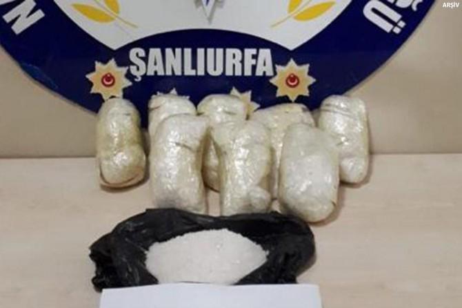 Şanlıurfa'da TIR'da 9 kilo metamfetamin ele geçirildi