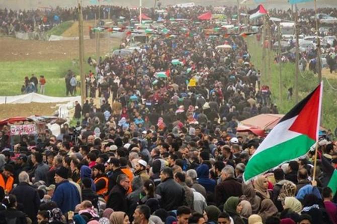 Gazze'de milyonluk Büyük Dönüş Yürüyüşü gösterisi
