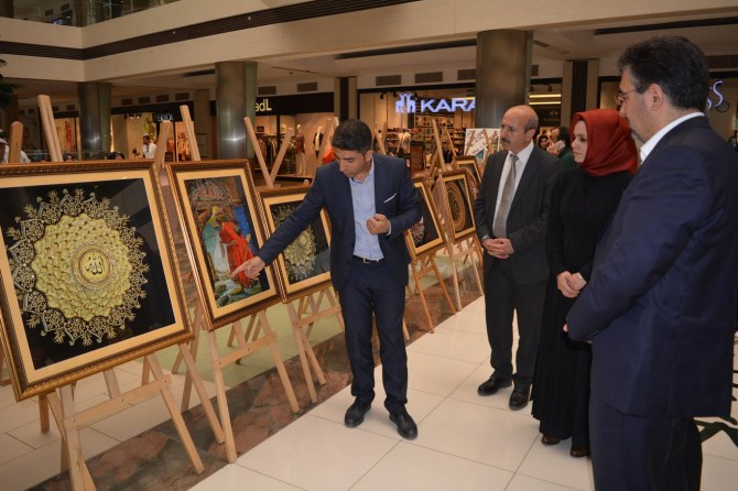 Batman'da Osmanlı ve Artuklu sanatı sergilendi