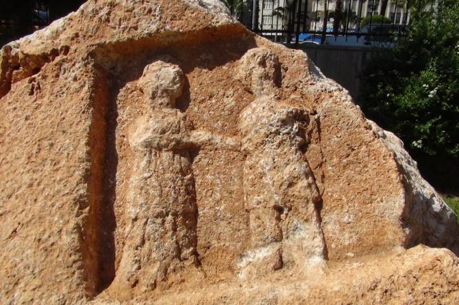 Kâhta'da Roma dönemine ait kaya bulundu