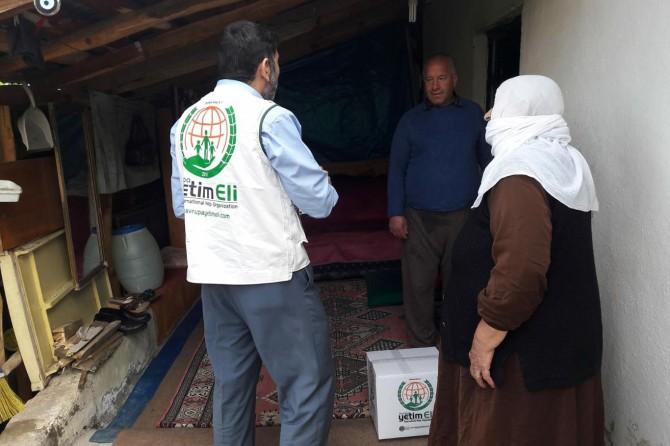 Avrupa Yetim Elinden Bingöl'deki muhtaçlara ramazan yardımı