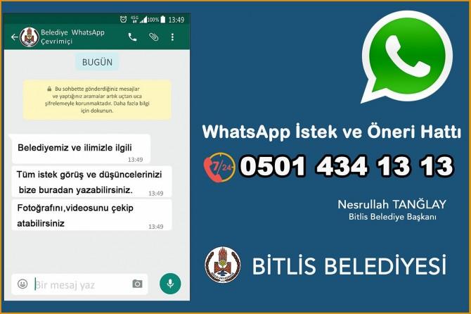 Bitlis Belediyesi WhatsApp Hattı kurdu