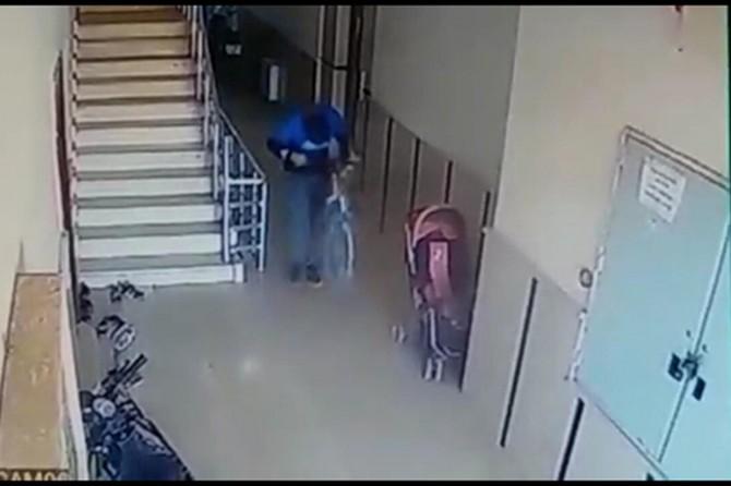 Nusaybin'de bisiklet hırsızı güvenlik kamerasına yakalandı
