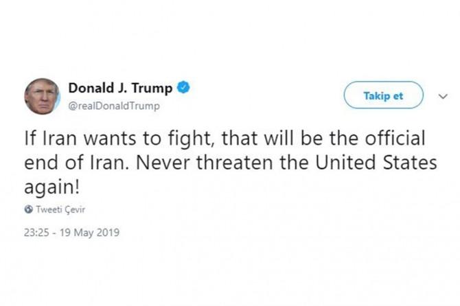 Trump gef li Îranê xwar