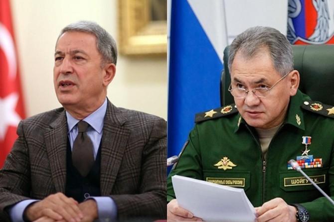 Millî Savunma Bakanı Akar, Rus mevkidaşıyla görüştü