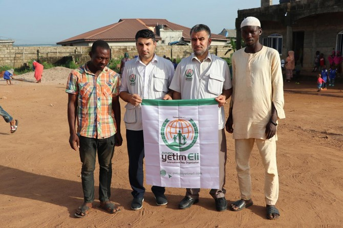 Europe Orphan Hand, a charity organization, in Nigeria for aid work