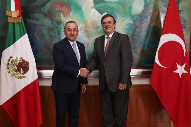 Çavuşoğlu Meksikalı mevkidaşı Ebrard ile görüştü