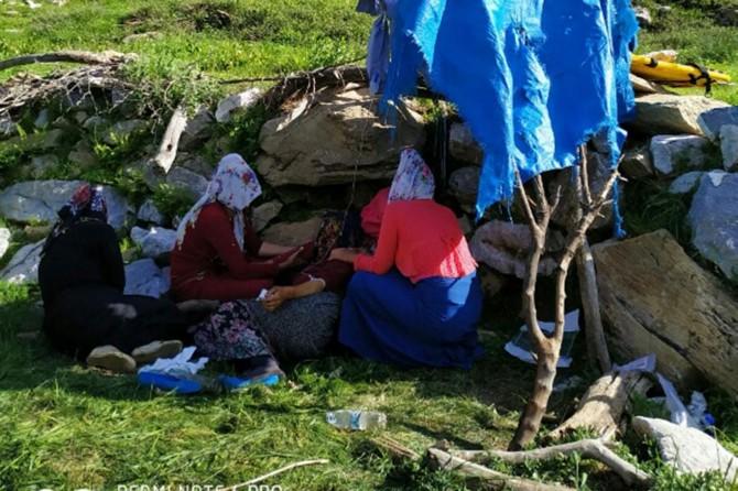Kayalıklardan düşen kadın sağlığına kavuştu