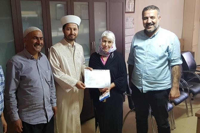 Moldovalı Maria Ceylanpınar'da Müslüman oldu
