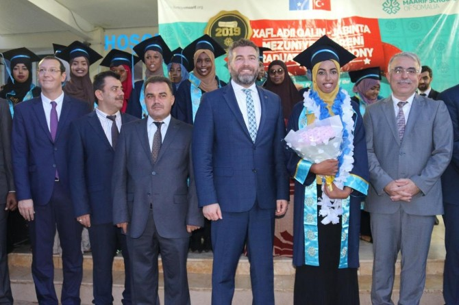 Somali Maarif Okulları'nda mezuniyet töreni