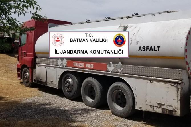 Batman'da kaçak petrol ele geçirildi