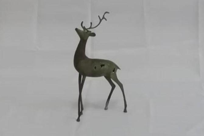 Siirt'te tarihi bronz geyik heykeli ele geçirildi