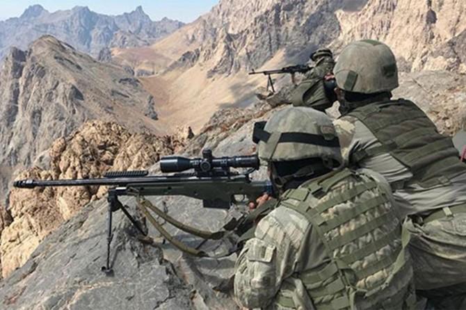 Bitlis-Tatvan kırsalında 4 PKK'li öldürüldü