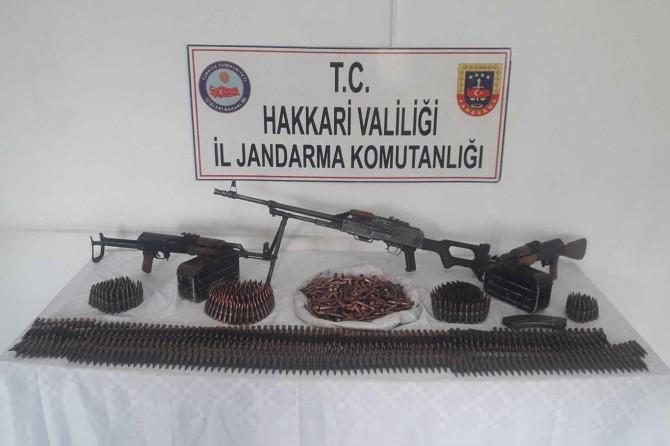 Şemdinli'de PKK'ye ait mühimmat ele geçirildi