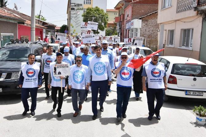 CHPli Odunpazarı Belediyesi protesto edildi