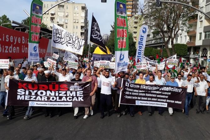 Adanalılar Özgür Kudüs için yürüdü