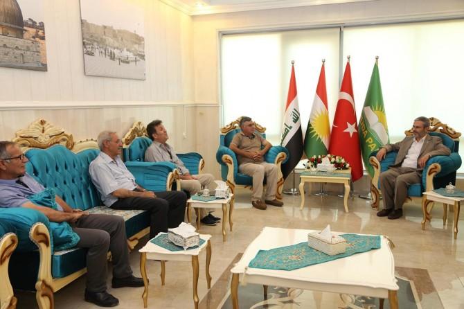 Kürdistan'daki siyasi parti temsilcilerinden HÜDA PAR'a bayram ziyareti