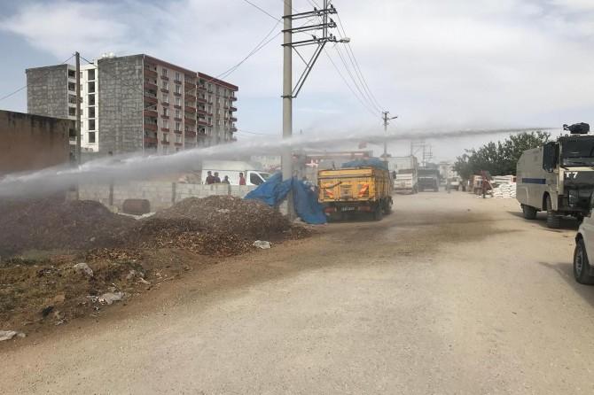 Kızıltepe'de yangına TOMA'lı müdahale