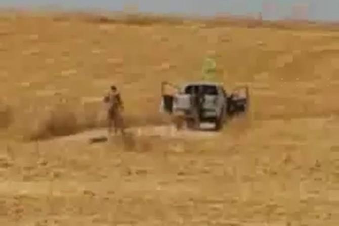 YPG/PKK'liler halkın arazilerini ateşe verirken görüntülendi