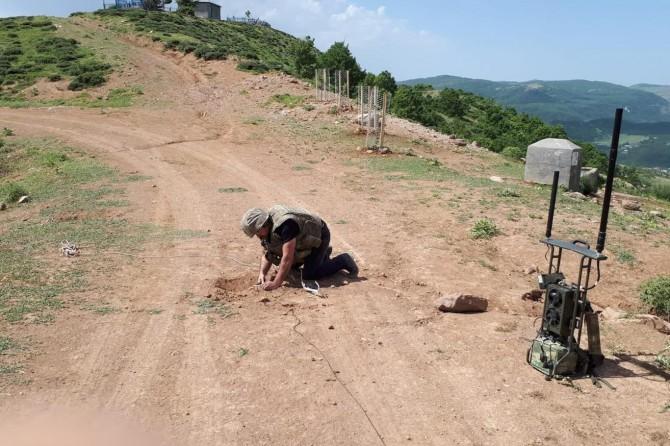 Bingöl'de 50 kilogram patlayıcı imha edildi