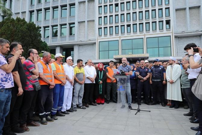 İBB çalışanlarından kamuoyunda çıkan haberlere tepki