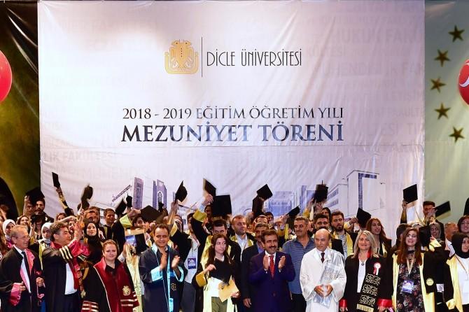 Dicle Üniversitesinde mezuniyet töreni