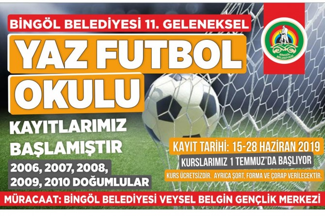 Bingöl'de yaz futbol okulu açılıyor