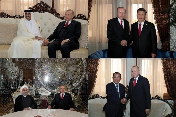 Cumhurbaşkanı Erdoğan'dan Duşanbe'de ikili temaslar