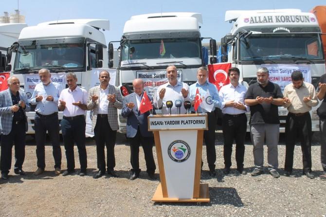 İdlip bölgesine 7 TIR insani yardım gönderildi