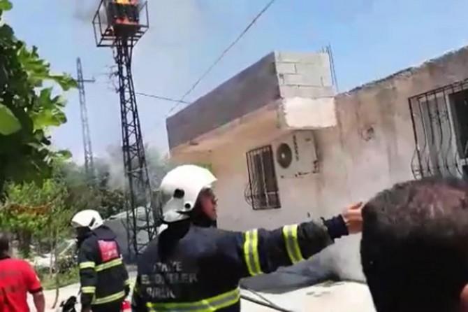 Şanlıurfa'da trafo yangını paniğe neden oldu