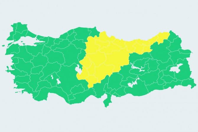 Meteorolojiden 18 il için sarı alarm uyarısı