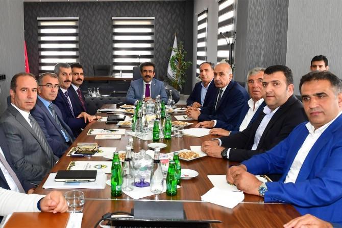 OSB'de ekonomik değerlendirme toplantısı yapıldı