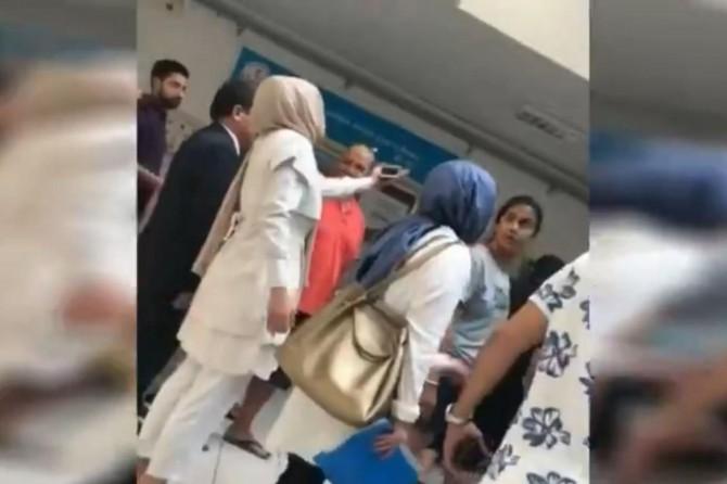 Seçim kurallarını ihlal eden CHP'liler başörtüsüne saldırdı