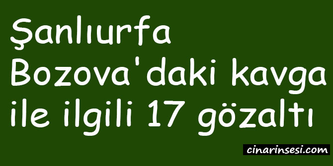 Şanlıurfa Bozova'daki kavga ile ilgili 17 gözaltı