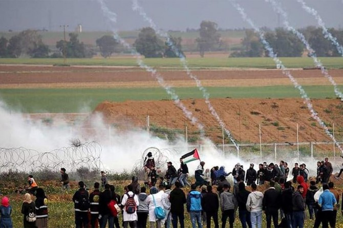 Occupying forces injure 50 Palestinians in Gaza marches