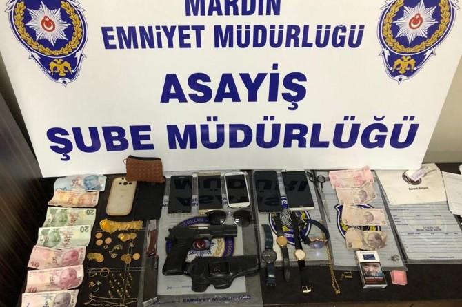 Mardin'de hırsızlık iddiasıyla 3 kişi tutuklandı