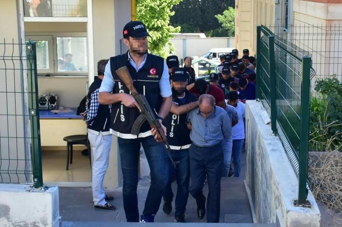 Gaziantep merkezli uyuşturucu operasyon: 40 tutuklama