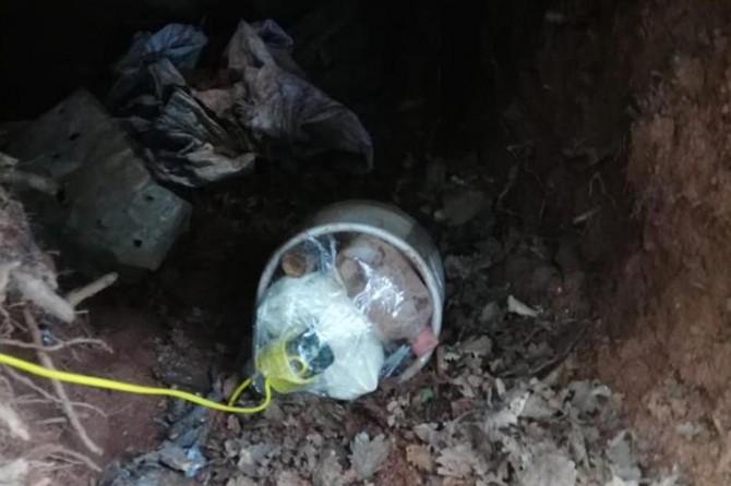 Yayladere'de PKK'ye ait sığınaklarda patlayıcı madde ele geçirildi