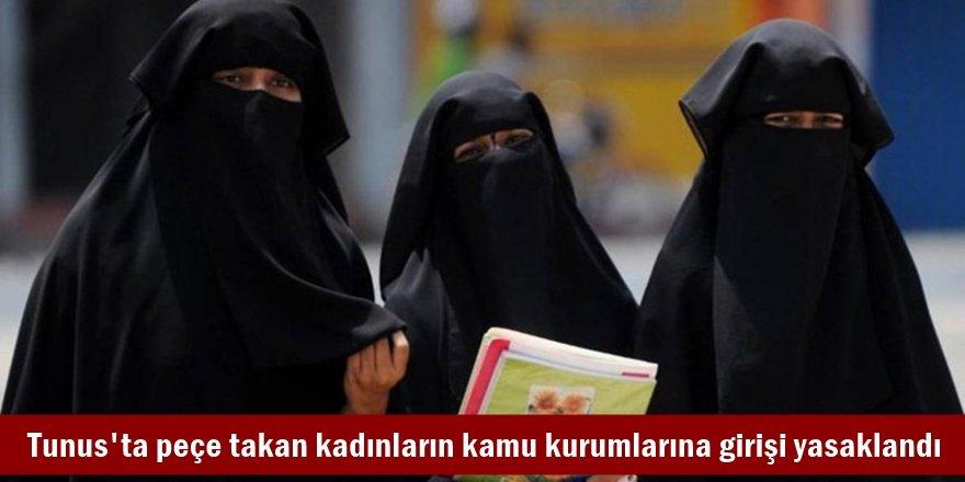 Tunus'ta peçe takan kadınların kamu kurumlarına girişi yasaklandı