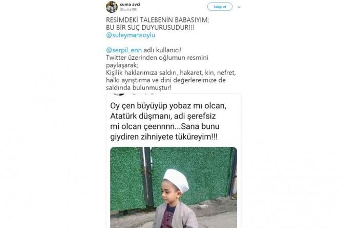 Kemalist kadından cübbe ve sarık düşmanlığı