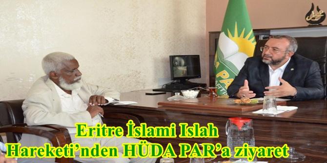 Eritre İslami Islah Hareketi'nden HÜDA PAR'a ziyaret