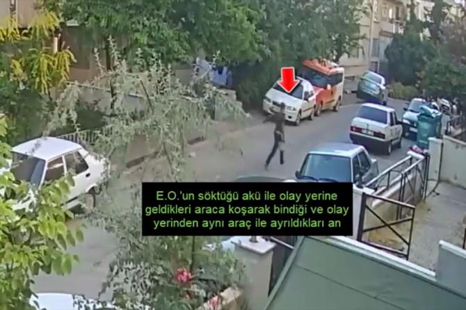 Gaziantep Şahinbey'de akü hırsızları yakalandı