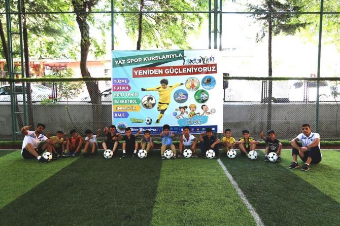 Siirt Belediyesinin yaz spor okulları kursu başladı