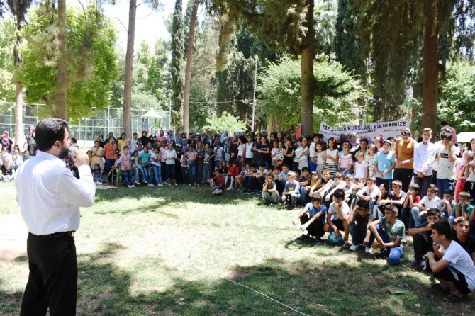 Nusaybin'de Yaz Kur'an Kursları öğrencileri piknikte buluştu