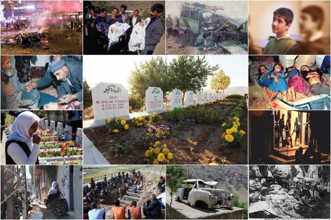 Dîroka PKKê ya Qetlîaman: Sûsa, Baqewsê, Başbaglar, Stewrê