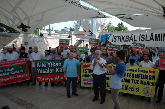 Aileyi yıkan yasalar İstanbul'da protesto edildi